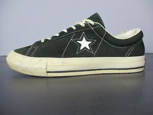 Vtg-90s-Made-In-USA-Converse-One-Star-Black-White