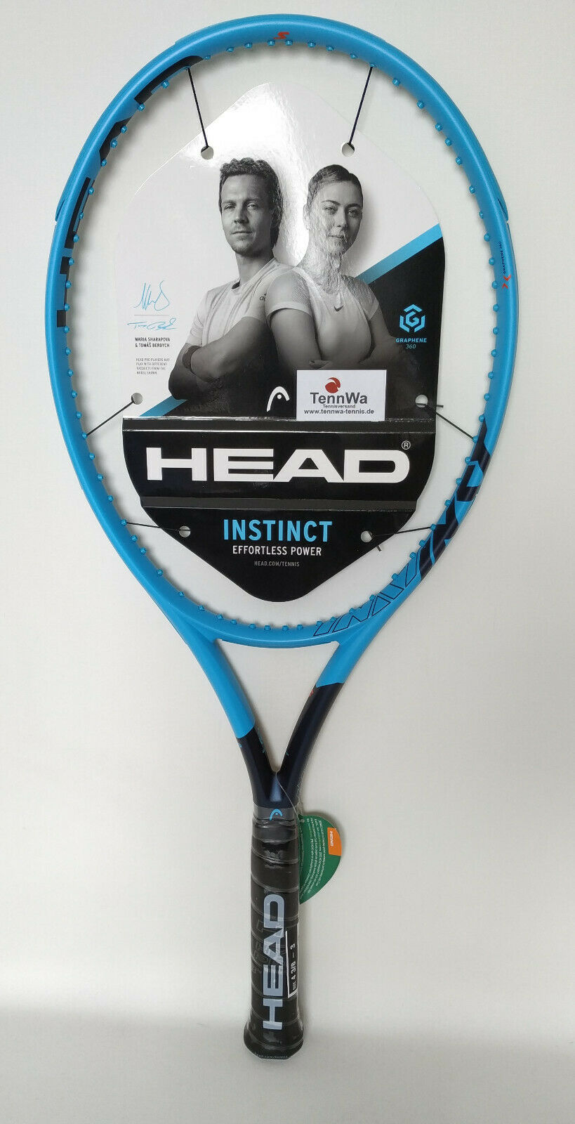 Raquette de tennis Head Graphene 360 Instinct S (285 g) avec corde-BERDYCH