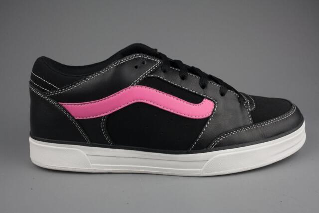 oficjalny sklep Najnowsza specjalne wyprzedaże Vans TNT Mens Unisex Leather Black/Neon Pink Skate Shoes Trainers