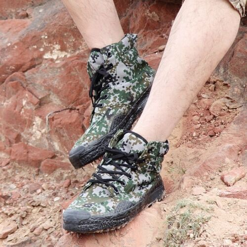 Hot Army Camouflage Boots Combat Patrol Training Military Camo Canvas Shoes