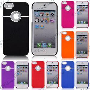 Accessoires-Housse-Coque-Case-Etui-Rigide-Chrome-Silver-Line-Iphone-5-5S-Film