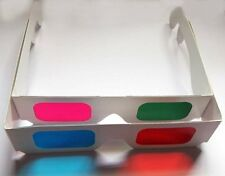 Lot 6 3-D Paper Lens Glasses (Red Cyan,Green Magenta) Anaglyph+Free 3D Postcard