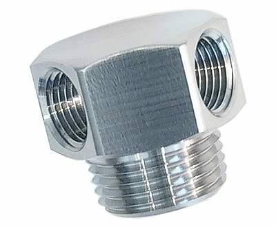"1042 Stainless Steel Two 1//8/"" NPT Ports Low Profile Vacuum Fitting 3//8/"" NPT PSS"