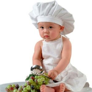 Cute-Baby-Chef-Apron-amp-Hat-For-Kids-Costumes-Cotton-Blended-Chef-Baby-White-Cook