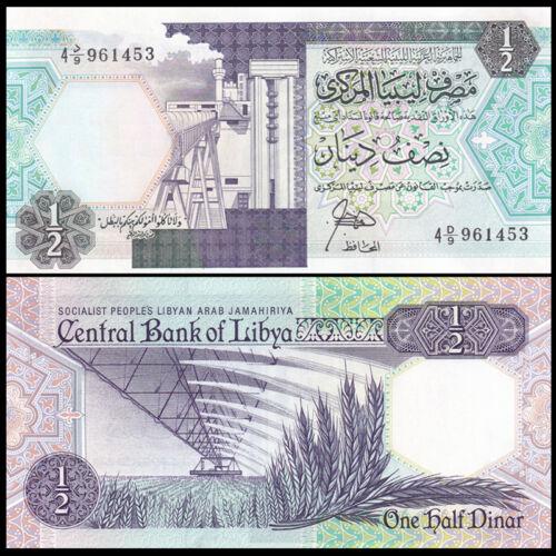 UNC 1//2 P-53 0.5 ND 1990 Libya Dinar Lybien paper banknote
