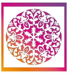 Flexible Stencil *A4 ORNATE MANDALA CIRCLE* Flower - Crafts 29.5cm x 21cm