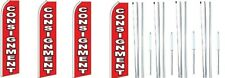 Consignment Swooper Flag With Complete Hybrid Pole Set 4 Pack