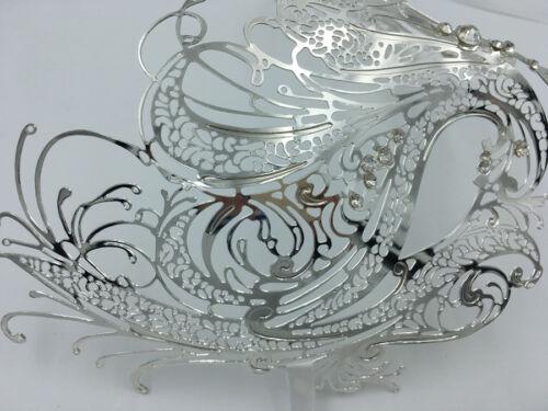 Couple Lover Men /& Women Lover Venetian Masquerade Metal Party Swan Prom Mask