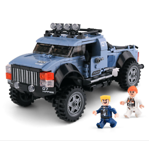 Xingbao-Bausteine-Gelaendefahrzeug-LKW-Blau-Auto-Partikel-Toys-Auto-Modell-555PCS