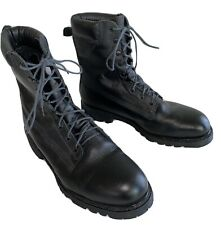 New Listingwildland Firefighter Boots Black Leather Size 13 Wide Made In Usa Worn Once