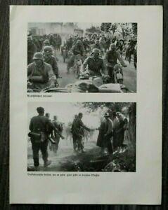 AQ-Blatt-2-WK-1940-Kradschuetzen-Krad-Motorrad-Soldaten-Jaeger-Rymanow-Polen-WWII