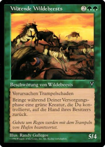 """show original title MTG card /""""Angry wildebeests/"""" German MINT Details about  /Magic the Gathering"""