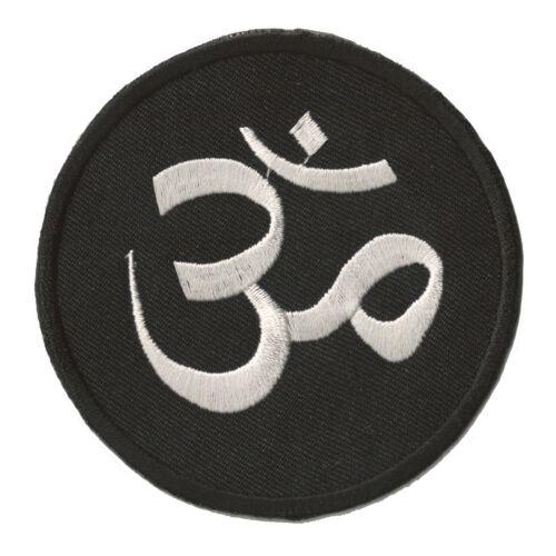 Wappenschild gepatcht Aum Om Ohm schwarz Hinduismus thermo Wappen patch
