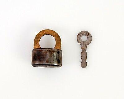 Vintage padlock with key  Soviet Russian door lock  USSR 1970/'s Soviet Latvia