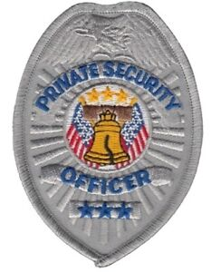Private Security Officer Patch in Silver or Gold