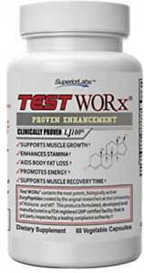 Superior Labs TEST WORx Natural Testosterone Booster With Clinically Proven And