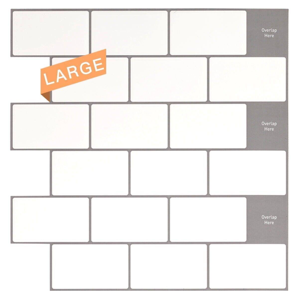 Image of: Mosaic Peel Stick 10 X 10 Backsplash Kitchen Bathroom Diy Wall Tiles Set For Sale Online Ebay