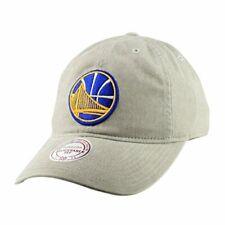 2969a189d09 Golden State Warriors NBA Mitchell Ness Blast Wash Tan Khaki Slouch Hat Cap  Mens
