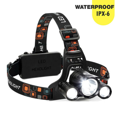Waterproof T6 LED Headlight USB Rechargeable Headlamp For Camping Hiking Fishing