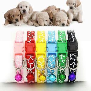 Patron-Gato-Hebilla-Correa-Perro-Tela-De-Nylon-Collar-Para-Mascotas-Collar