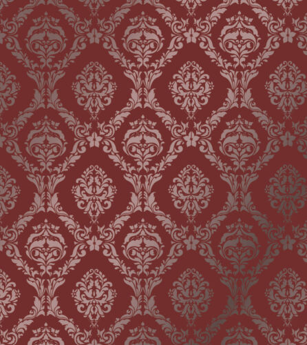 LARGE WALL DAMASK STENCIL PATTERN FAUX MURAL  #1007