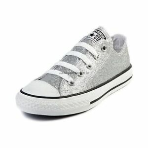 b2d5867126293 NEW Converse Chuck Taylor All Star Ox Silver Glitter 135851C SZ Men ...