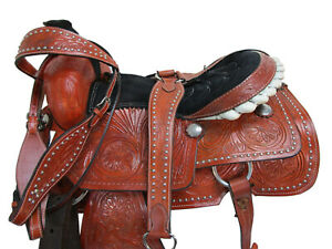 COMFY RIDING TRAIL HORSE 16 17 PLEASURE RANCH ROPER ROPING WESTERN TACK SADDLE