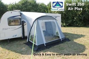 Sunncamp Swift 260 Air Plus 2018 Stock Easy To Erect Porch Air