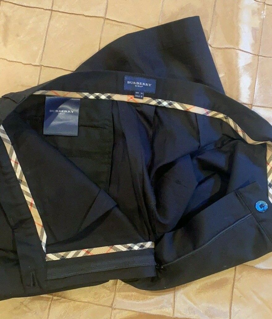 BURBERRY GOLF FABULOUS SHORTS TAILORED BLACKWITH … - image 10