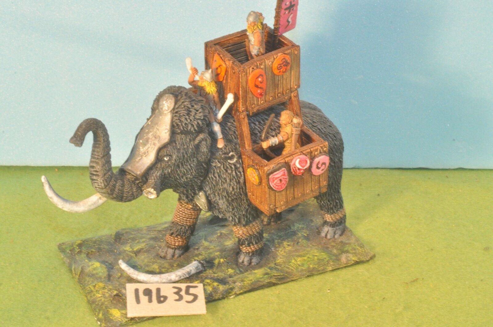 Guerra de metal elefante mamut Sigmar Fantasía Warhammer Ral Partha Ciudadela (20183)