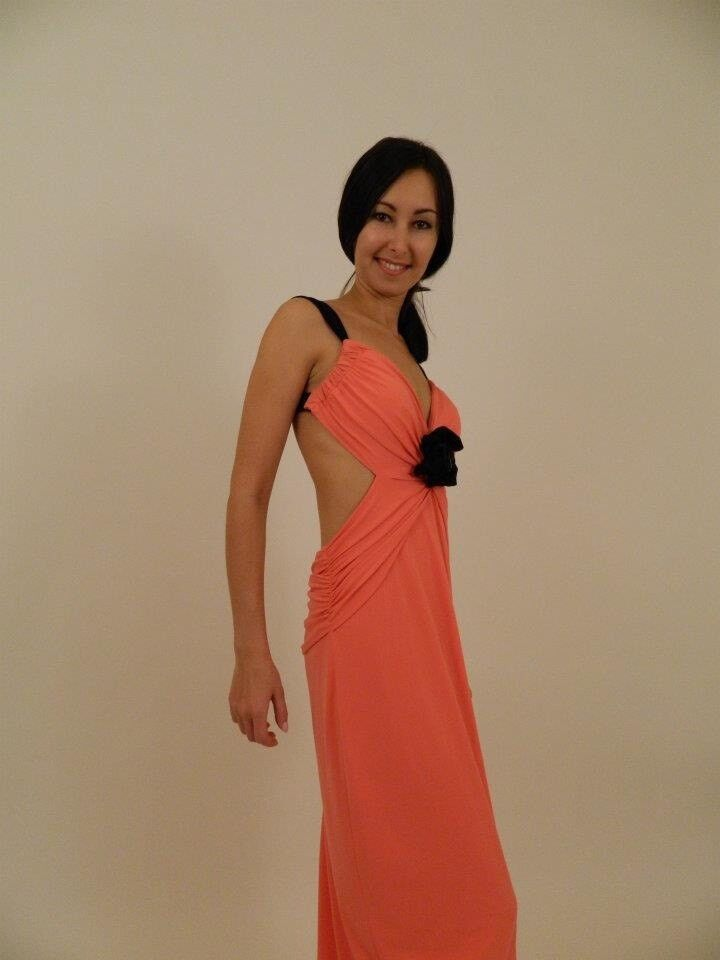 LAST HOURS  Orange rot Open Back Evening Gown Dress Größe 18UK 14USA