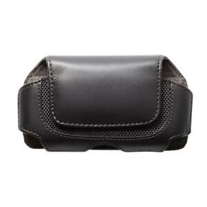 BLACK-HORIZONTAL-LEATHER-CASE-COVER-PROTECTIVE-POUCH-BELT-X5X-for-SMARTPHONES