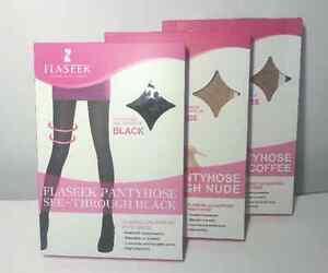 Flaseek Leg Support Pantyhose Compression Stocking Prevent Varicose Veins (3Pcs)