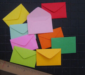 "Handmade small envelopes 1-1//2/"" x 2/"" tiny mini fairy note little scrapbook cute"