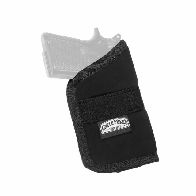Uncle Mike/'s Inside Pocket Holster Size 4 Fits Compact 9mm Ambidextrous Black 8744-4 for sale online
