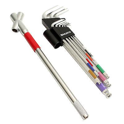 Ball end Allen Hexagon Key Wrench Power Handle Set Steel 10PCS SM-PLBS10