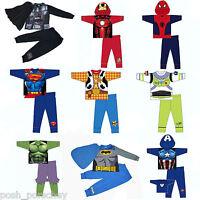 Boys Toddler Kids Super Hero Cotton Pyjamas PJ's Sleepwear T-shirt Costume Set