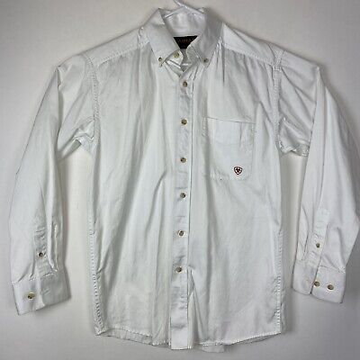 Ariat White Solid Twill Shirt 10000503