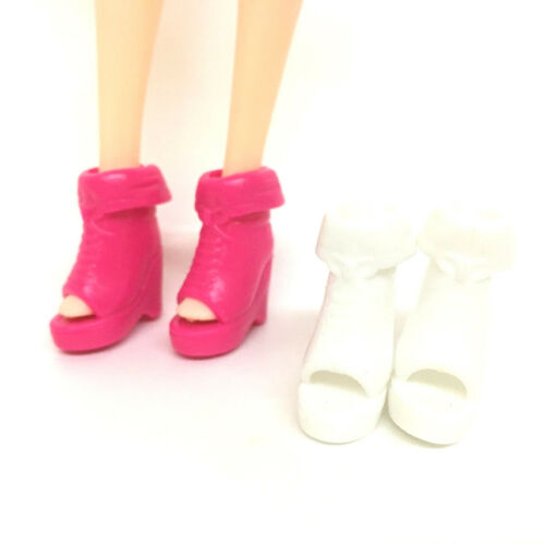 5 Pairs dolls plastic sandals dance shoe bowknot high-heel shoes christmas giTS