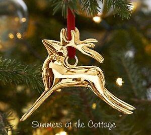 image is loading pottery barn shiny gold bronze reindeer christmas tree