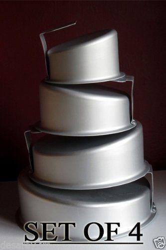 Mad Topsy Turvy Professional Round 4 Piece Cake Pan Set bakeware baking New