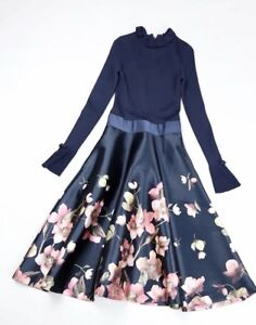 f79ddca79 Image is loading New-Ted-Baker-London-Seema-Frill-Neck-Floral-