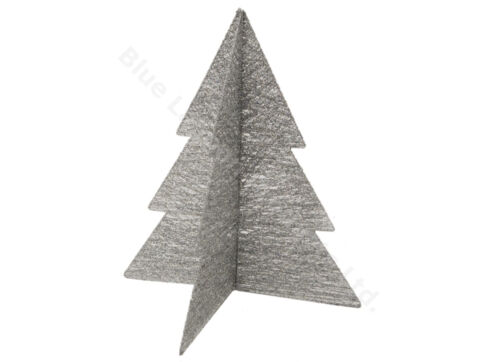 """18/"""" Silver Fold Out Cotton /& Wire Glitter Christmas Tree Modern Decoration Xmas"""