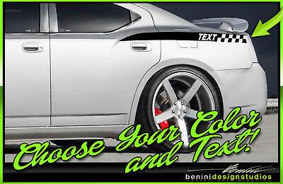 2006 07 08 2009 2010 Dodge Charger Daytona Trunk  Decal