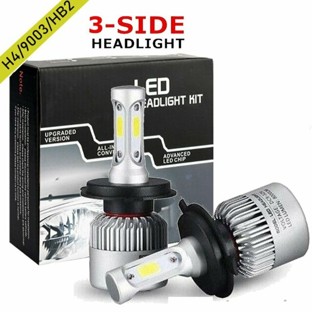 2X H4 9003 LED Car Headlight Conversion Bulbs Beam Kit 980W 140000LM 6500K Globe
