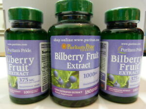 Sealed Bilberry Fruit Extract  380 soft gels pills