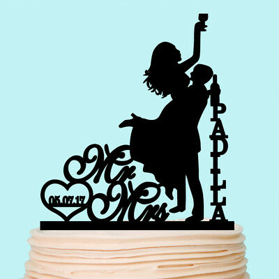 Tortenfigur Tortenstecker Deko Cake Topper Wedding Hochzeit Acryl Geliebte Hund