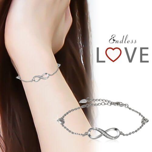 Coeur Infini Femme Lien Chaîne Bracelet Bracelet promesse Bridal Jewelry Gift