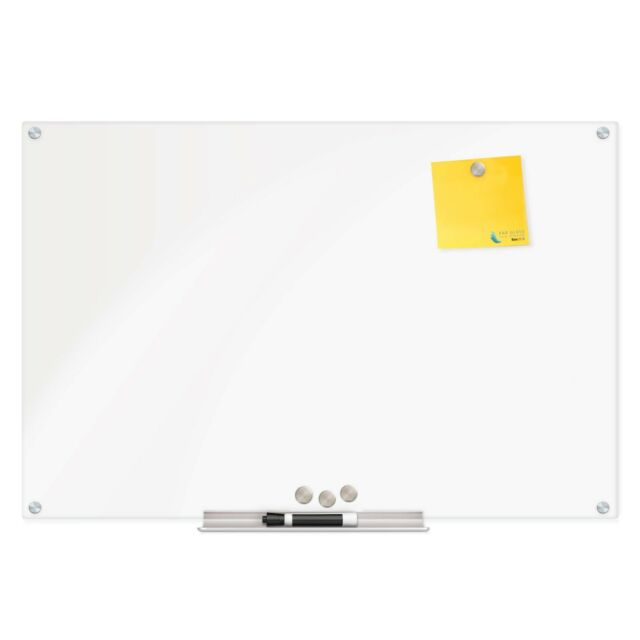 Frameless Magnetic Glass Dry-Erase Board Eased Corners by Fab Glass and Mirror