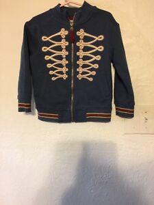 GENUINE-KIDS-4T-Jacket-Zips-Blue-TODDLER-Boys-Coat-Design-In-On-Front-Jacket